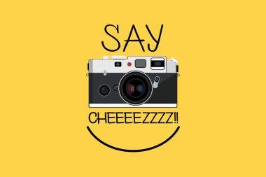 Happy Camera Vector Design