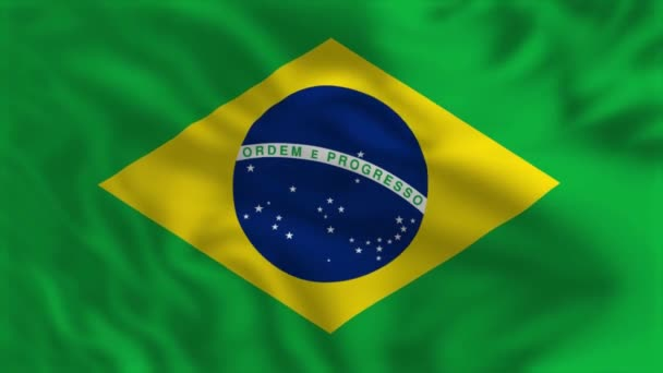 Flag of Brazil - Waving Flag Animation
