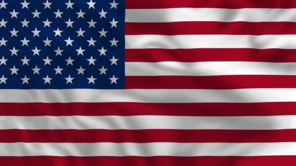 Flag of United States of America - Waving Flag Animation