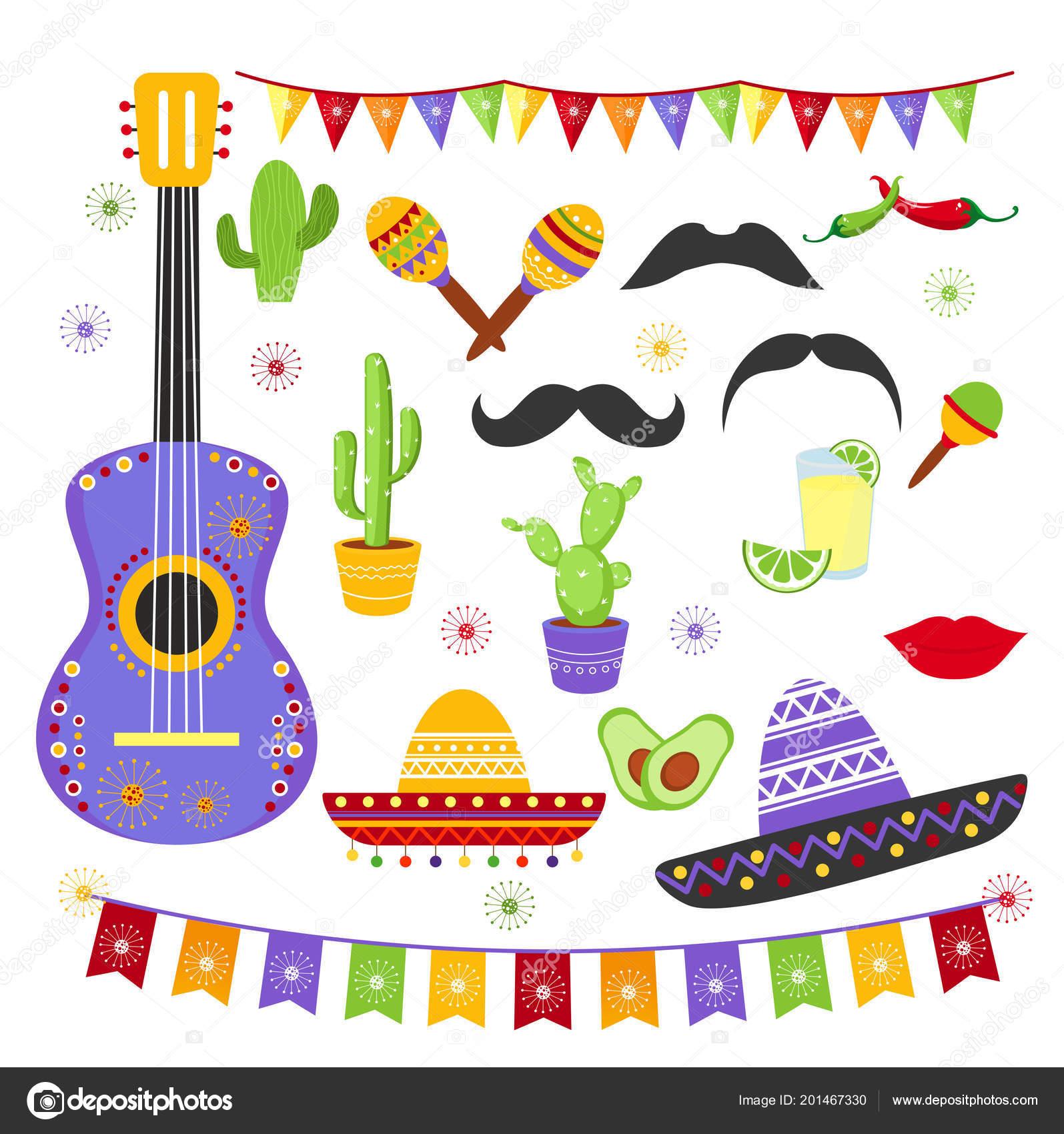 ... la fiesta de carnaval en colores brillantes y estilo mexicano. Sombreros  de colección de cinco de Mayo 8ff9350154f