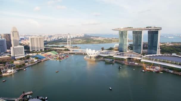 Panoráma Singapuru den timelapse