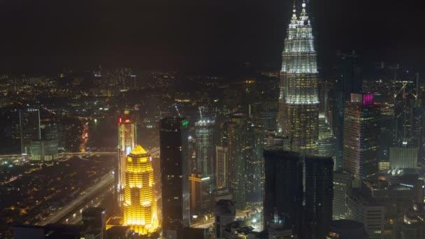Time lapse: Kuala Lumpur overlooking the city skyline