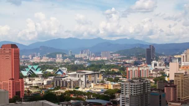 Amazing Cloudscape day time lapse of Kuala Lumpur city