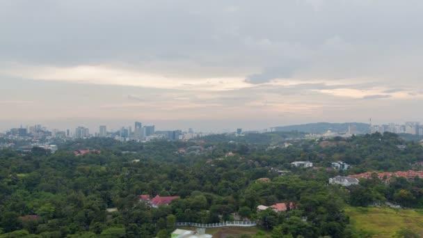 Amazing Cloudscape sunset time lapse of Kuala Lumpur city