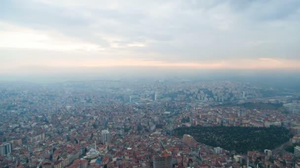 Istanbul Turkey cityscape timelapse sunset