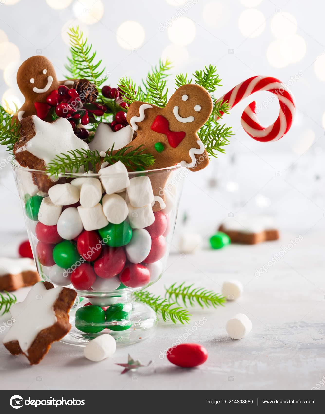 Perfekte Weihnachtskekse.Weihnachtsplätzchen Süßen Bonbons Eibisch Glas Perfekte Idee Für