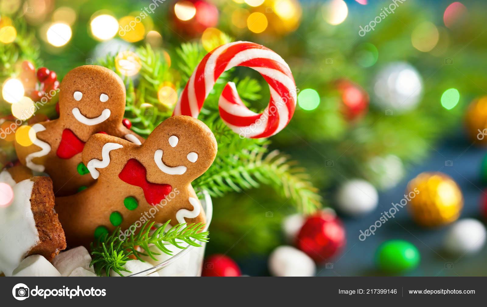 Biscuits Noel Bonbons Sucres Guimauve Verre Une Idee Parfaite Pour