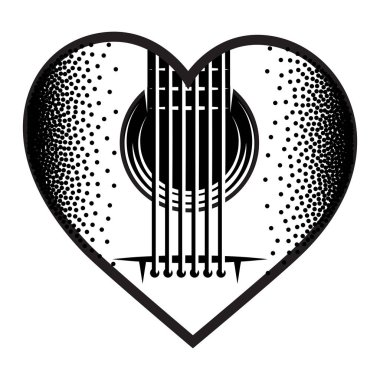 Stylish monochrome plectrum for guitar. Vector illustration.