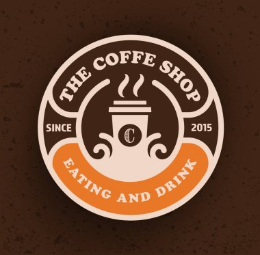 Coffee shop logo design template. Retro coffee emblem. Vector art.