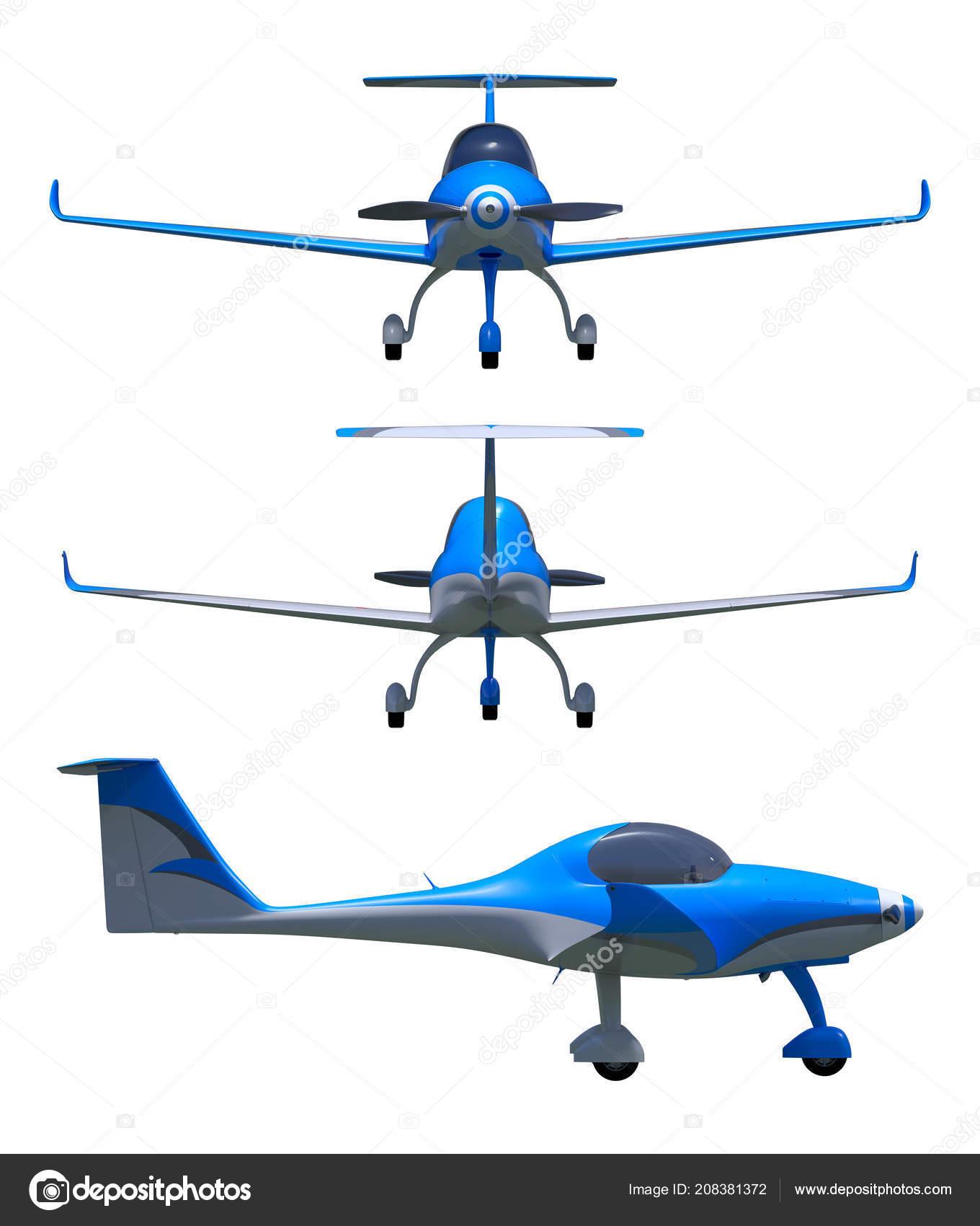 Render Light Sport Aircraft Small General Aviation Plane