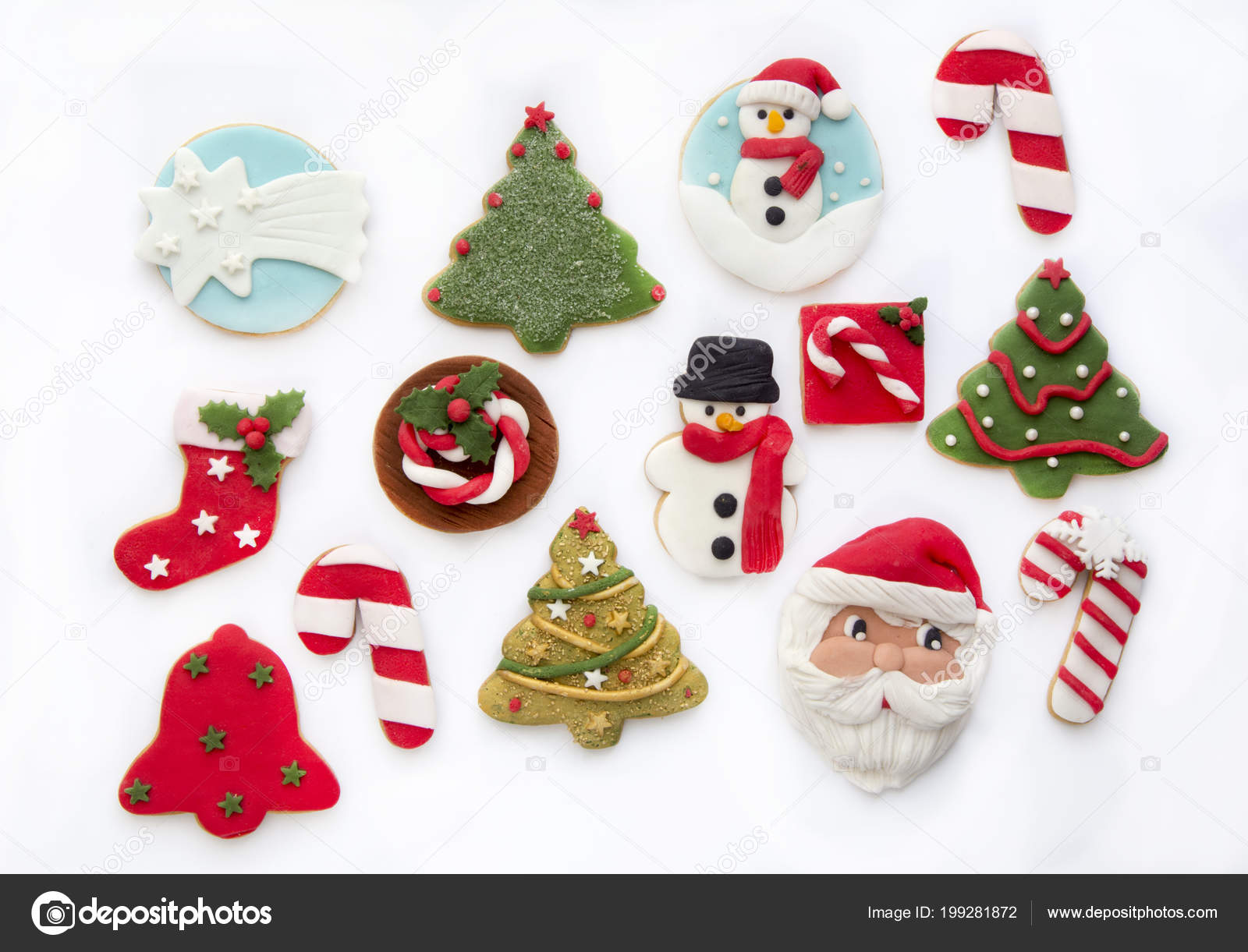 Horno Las Galletas Navidad Decoradas Foto De Stock