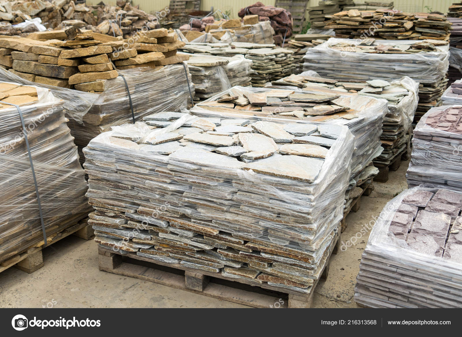 Sale Natural Stone Cladding Construction — Stock Photo © cs