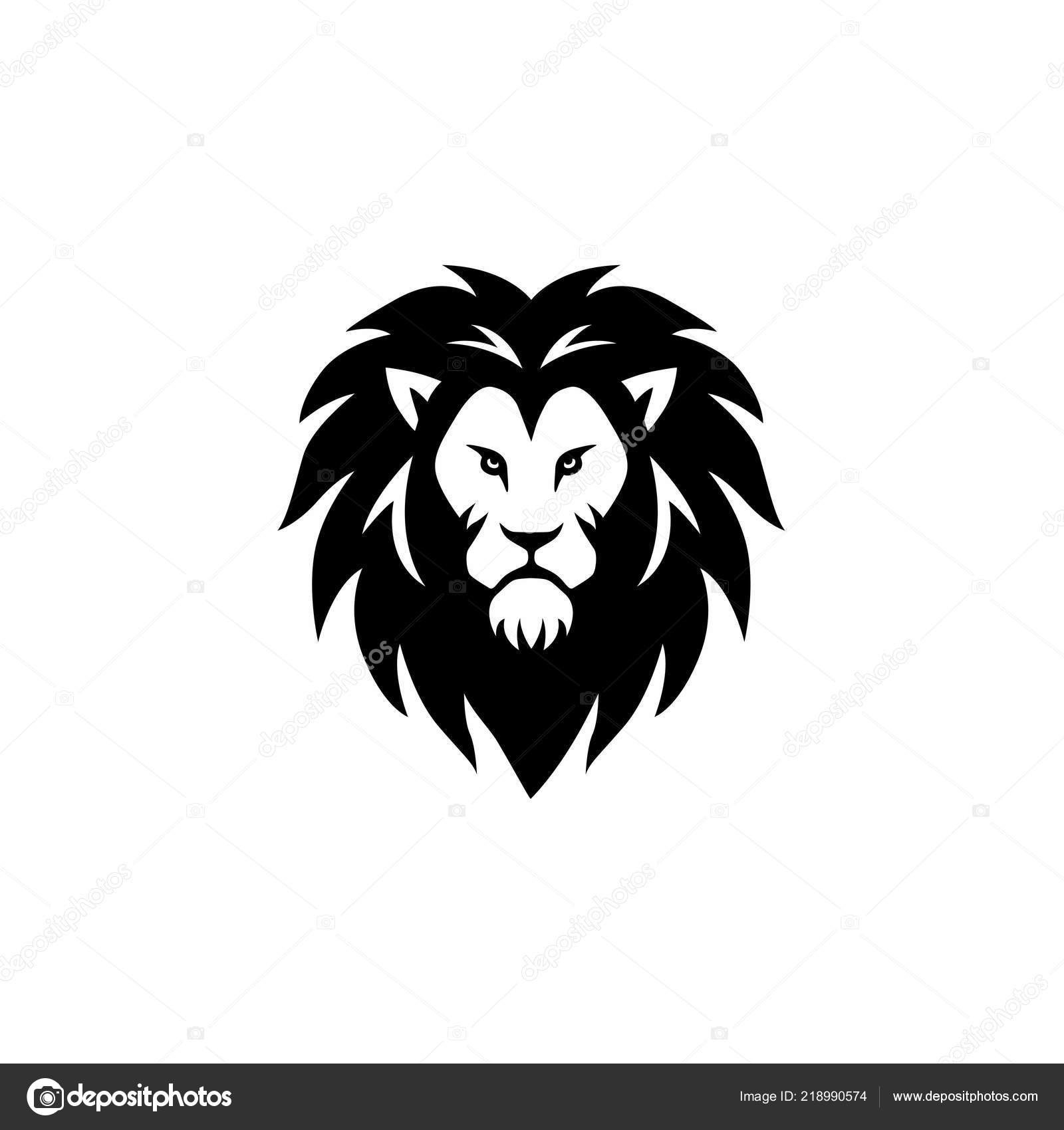 Vector: lion black and white logo | Angry Roaring Black White Lion Head  Vector Logo Design Illustration — Stock Vector © dianpurdi41 #218990574