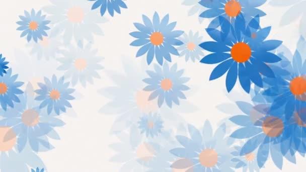 Abstraktní mění květy na bílém pozadí