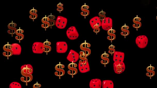 Dollar signs and dices