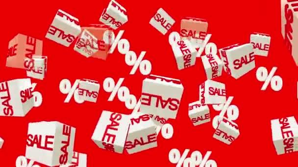 Koncept prodeje a procenta na červené