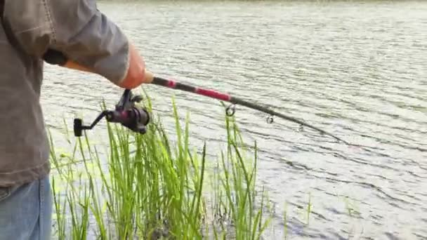 Horgász a halászati rúd