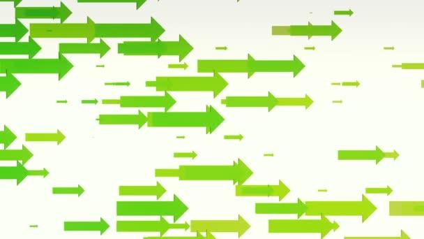 Green arrows on white