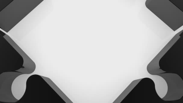 Černá puzzle s prázdná místa v bílém