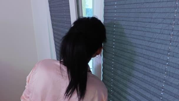 Woman near window in the morning