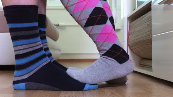 Couple in colorful socks