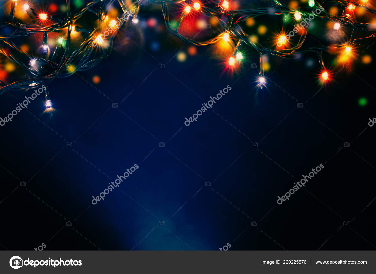 Colorful Christmas Lights Background.Colorful Christmas Lights Abstract Background Stock Photo