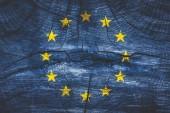 brexit fogalom - Eu-zászló, grunge, háttér