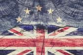názorově koncepce - pařížského Uk vlajka na pozadí grunge