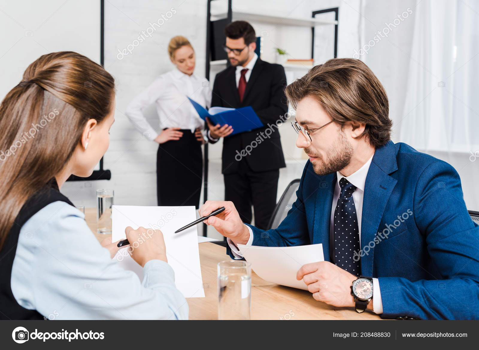 Team Business People Working Together Modern Office Stock Photo