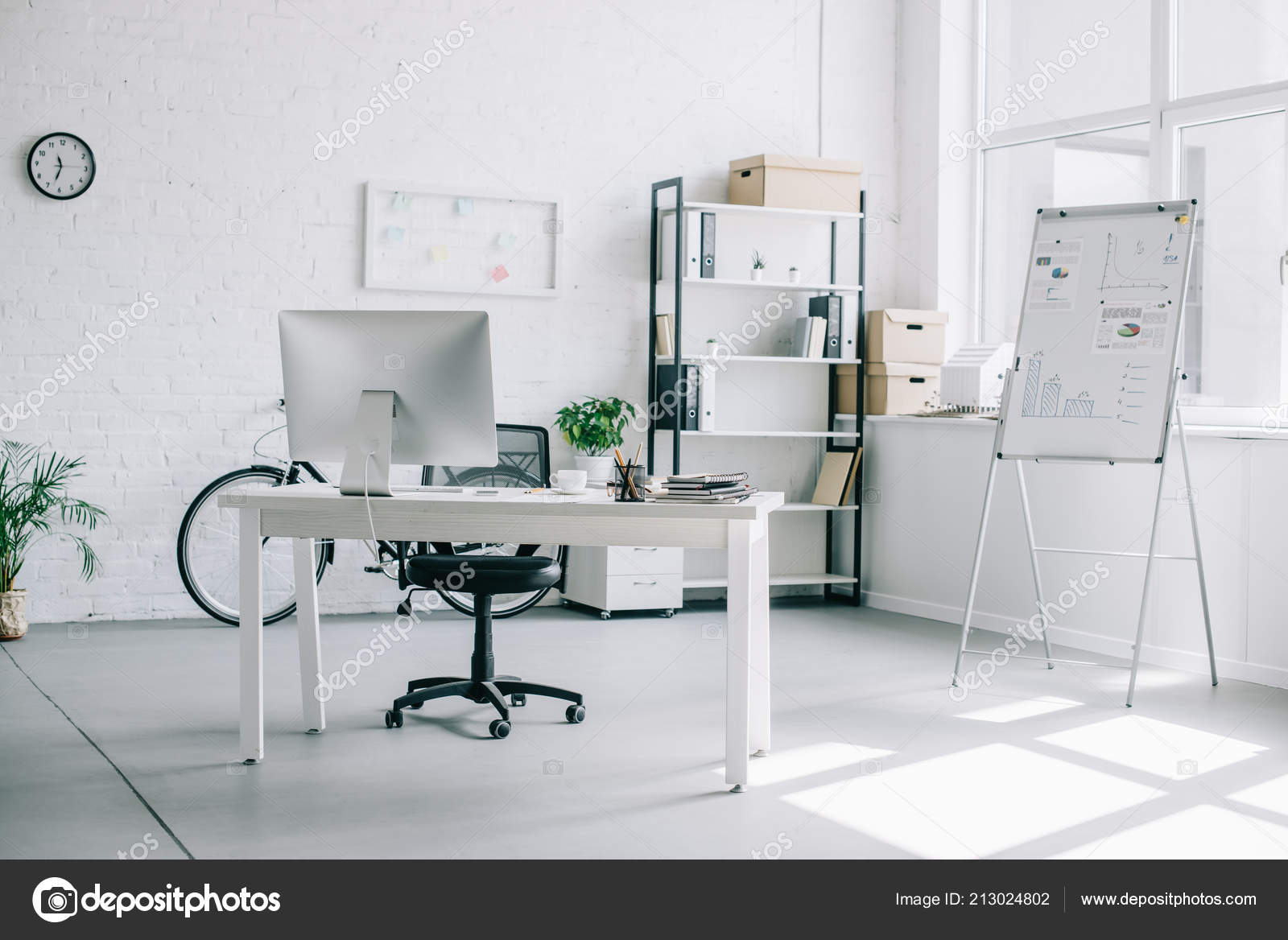 Interior Light Modern Business Office Furniture U2014 Stock Photo