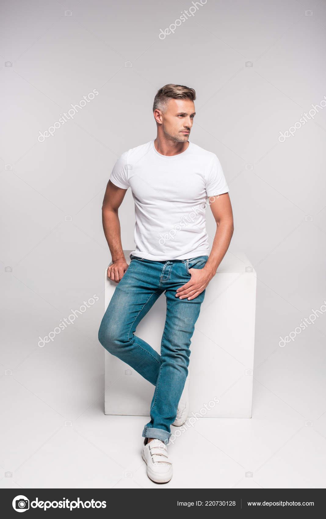 white handsome man
