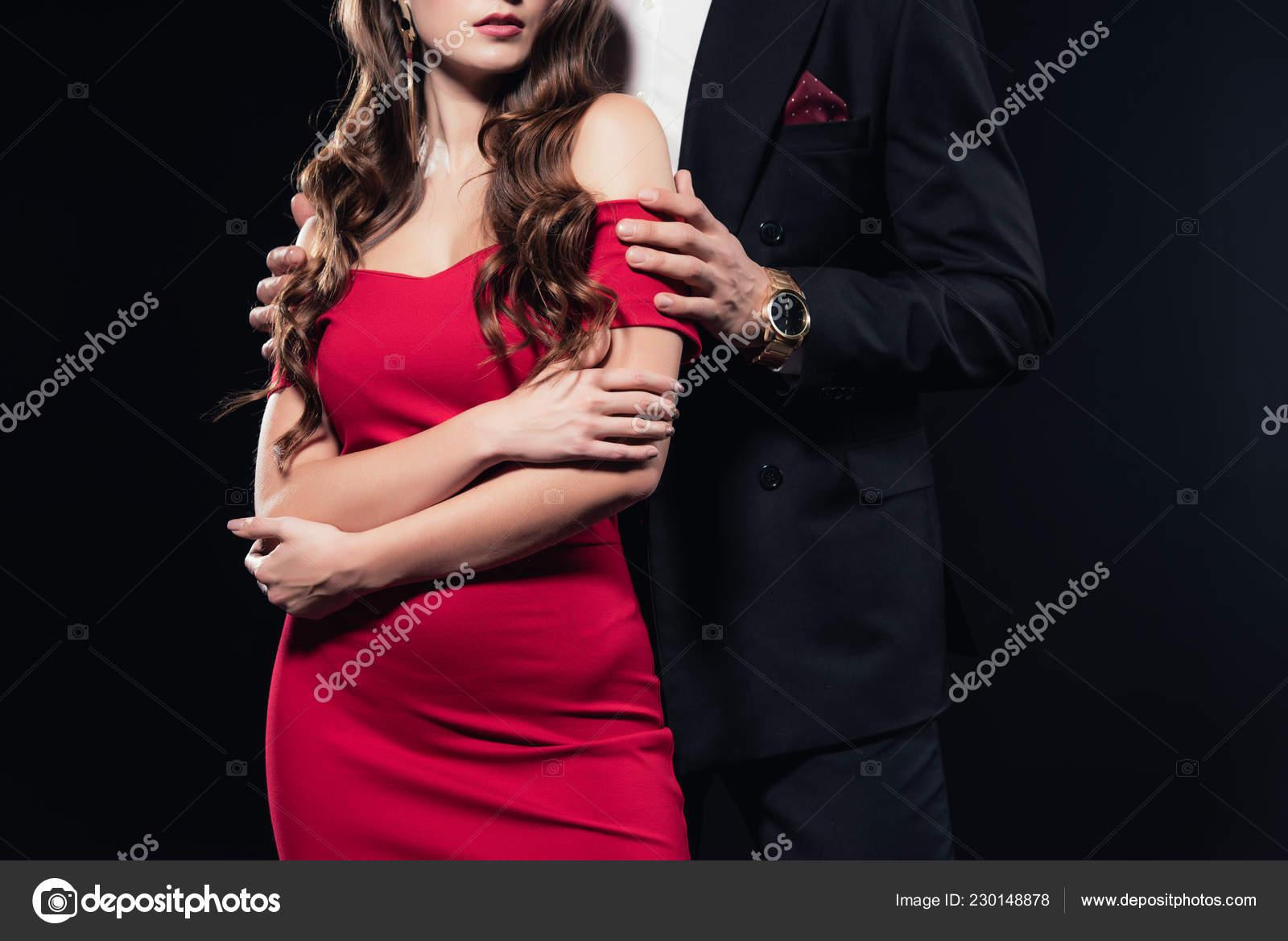 una vista rosso riserva isolato nerofoto di abbraccia vestito Uomo di in potato donna il che nkw0P8OX