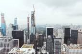Letecký pohled na architektury na new york city, usa