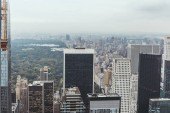 Fotografie aerial view of architecture on new york city, usa