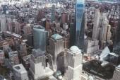 Letecký pohled na mrakodrapů, new york city, usa