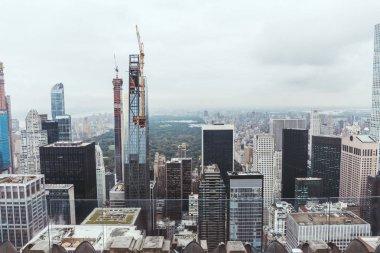 "Картина, постер, плакат, фотообои ""Аэрофотоснимок архитектуры на Нью-Йорк, США"", артикул 231333638"