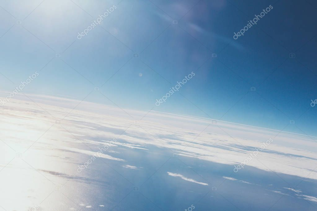 view of blue cloudy sky as background