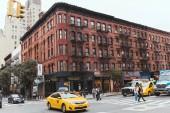 NEW YORK, USA - OCTOBER 8, 2018: urban scene with new york city street, usa