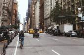 New York, Usa – 8. října 2018: městské scény s ulicí, new york city, usa