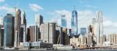 Manhattan, New York, Usa – 8. října 2018: nádherný panoramatický výhled na manhattan a Atlantský oceán, new york, usa