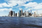 Manhattan, New York, Usa - 8 ottobre 2018: bellissima vista di manhattan e atlantic ocean, new york, usa