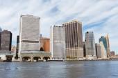 Manhattan, New York, Usa – 8. října 2018: krásný výhled na manhattan a Atlantský oceán, new york, usa
