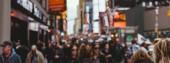 Times Square, New York, Usa – 8. října 2018: panoramatický pohled na přeplněném náměstí times square v new Yorku, usa