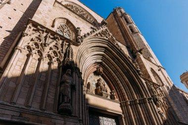 low angle view of temple expiatori del sagrat, barcelona, spain