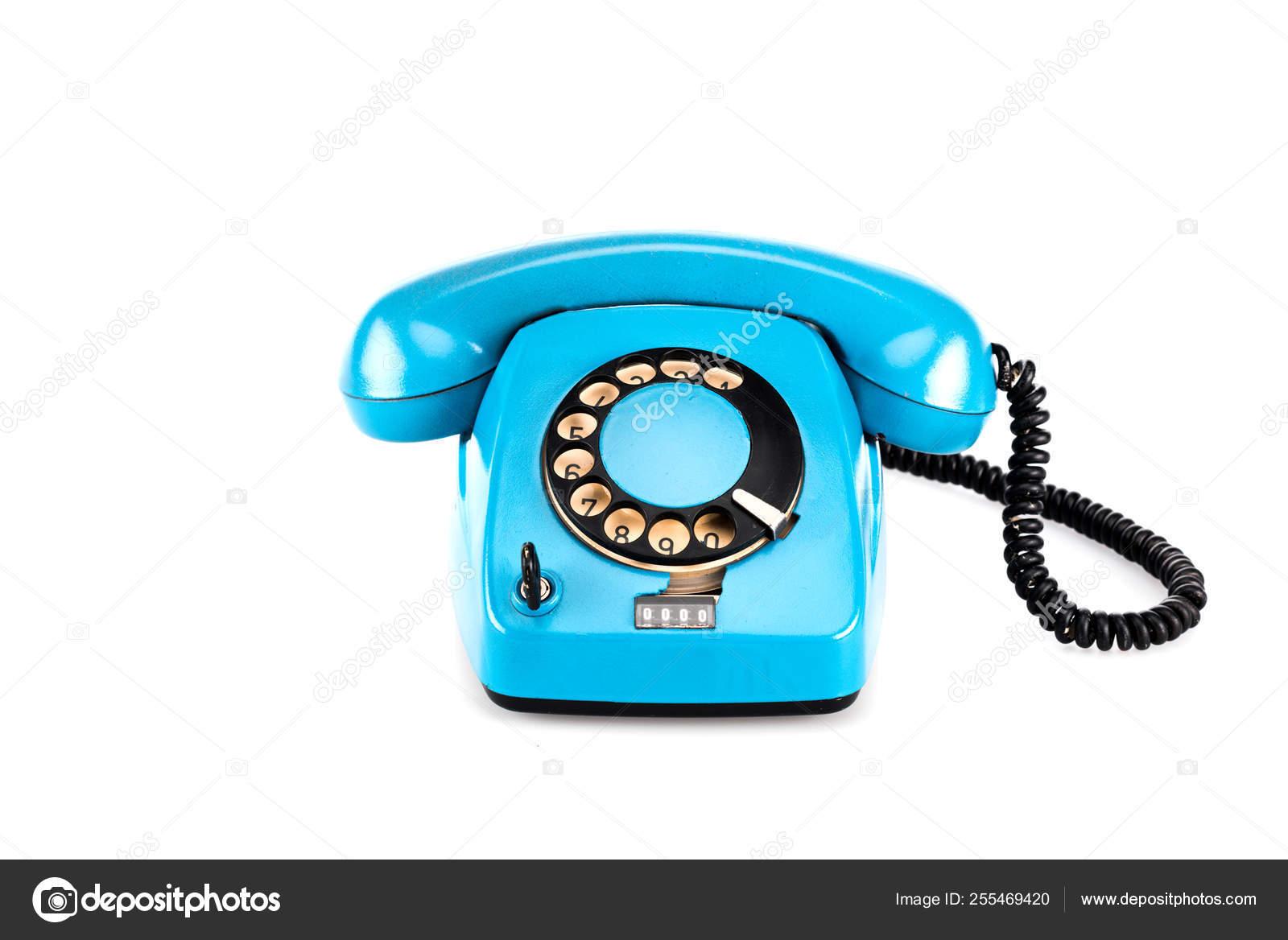 Surprising Blue Vintage Telephone Handset Wire White Stockfoto C Igorvetushko Wiring 101 Nizathateforg