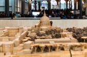 Řím, Itálie-28. červen 2019: výběrové zaměření na Maquette starověkého Říma ve Vatikánským muzeu
