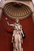 Roma, Italia - 28 giugno 2019: antica statua romana con lancia in Museo Vaticano