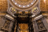 ROME, ITALY - JUNE 28, 2019: interior of vatican museums with ancient frescoes and sculptures