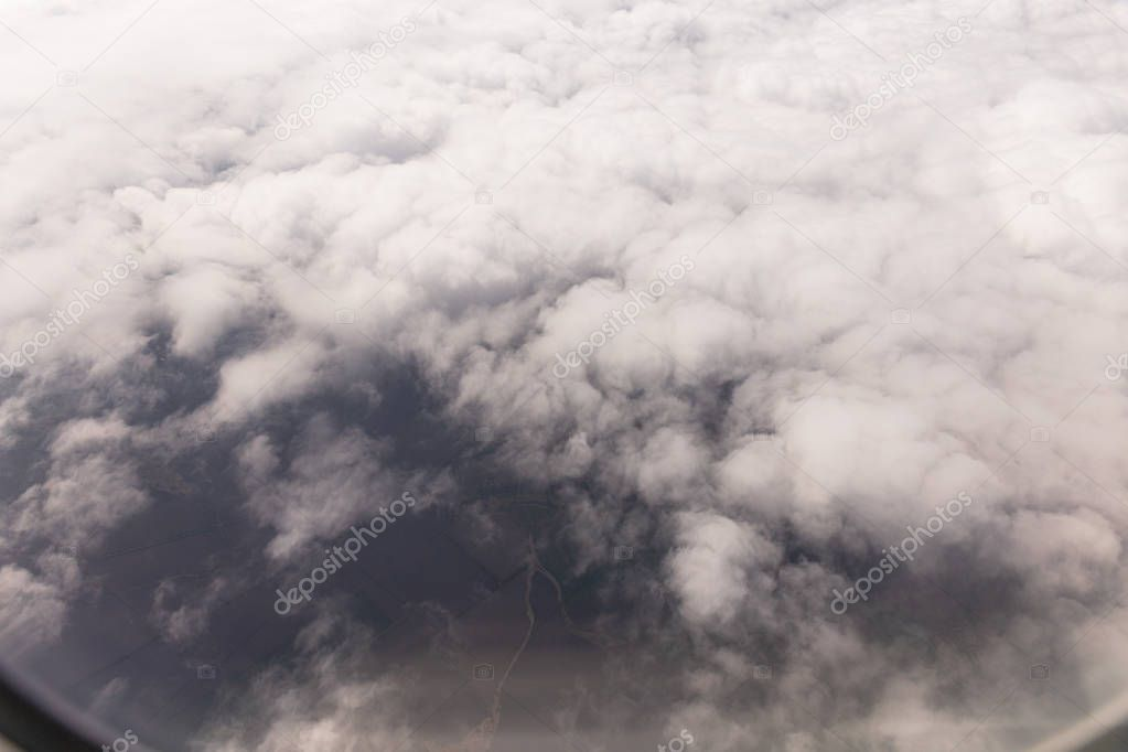 overcast sky with grey clouds in rome, italy