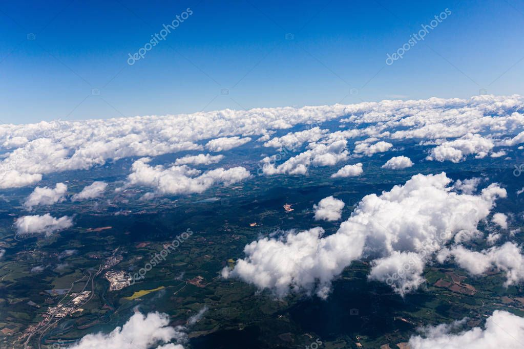 aerial view of land under white clouds in rome, italy